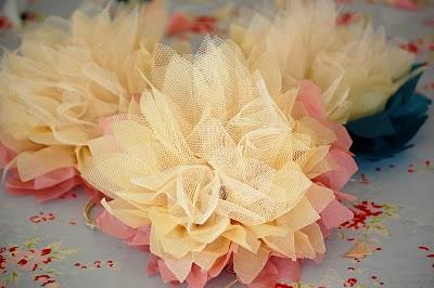 Как из тюли сделать цветы фото 520