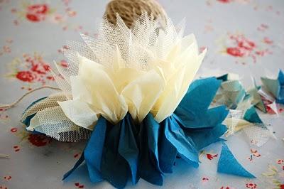 Как сделать цветы из тюля своими руками